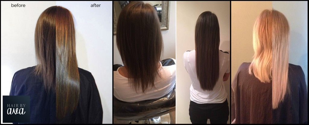Great Lengths hair extensions - before and after shots