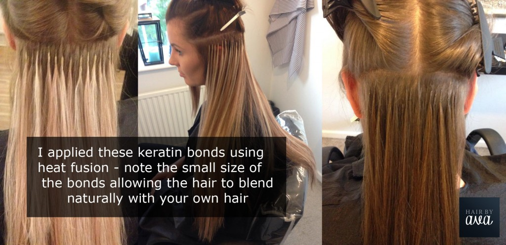 Keratin Bonds - Great Lengths extensions applied by Hair by Ava